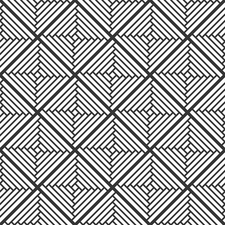 Abstract Retro Geometric seamless pattern. Vector Illustration Illustration
