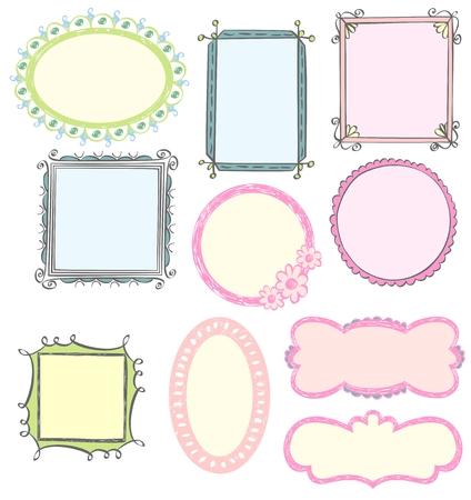 Illustrazione di Doodles disegnati a mano e elementi di design. Archivio Fotografico - 64367470