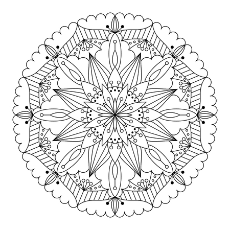 tantra: Vector beautiful ethnic mandala. Design element for art. Illustration