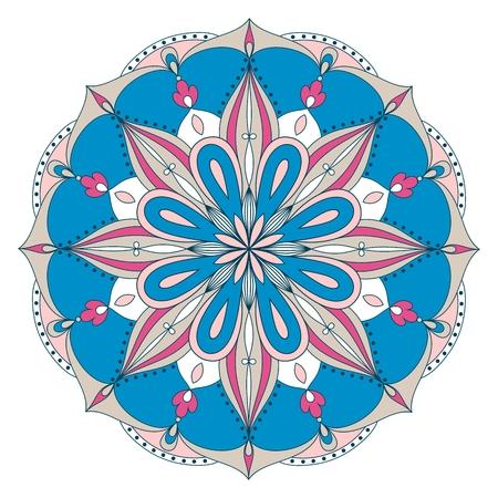 Vector beautiful ethnic mandala. Design element for art. Illustration