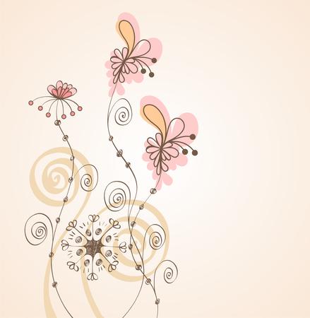 Flores de fantasía. Fondo lindo para su texto.