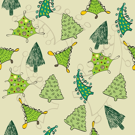 retro christmas: Christmas seamless pattern in the style retro. Illustration