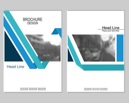 Vektor-Broschüre Cover-Vorlagen mit verschwommenen Stadtbild. Business Broschüre Cover Design. ENV 10. Maschenhintergrund.