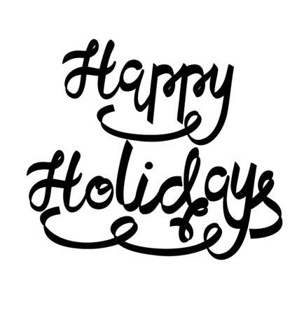 holidays: Vector happy holidays.