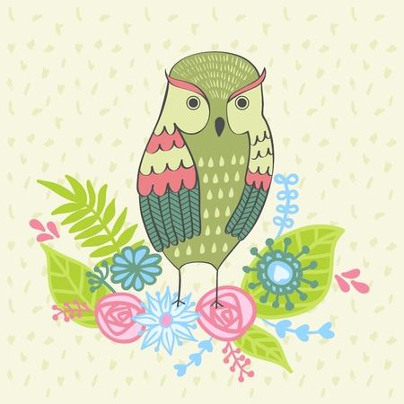 Vector artistic card