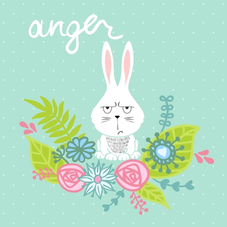 vector cartoon bunny Vector Illustration