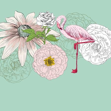Flamingo. Vector illustration