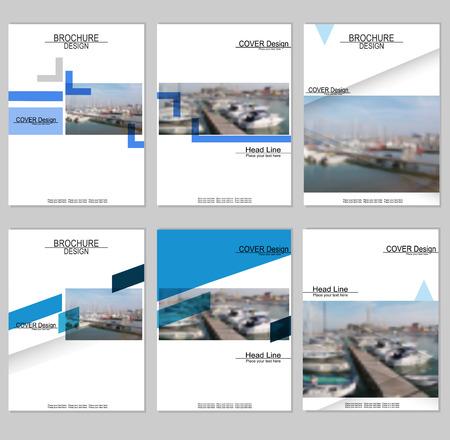 パンフレット表紙デザイン  イラスト・ベクター素材