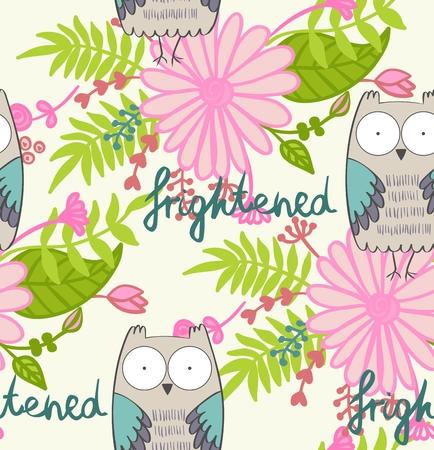 Cartoon owl Illustration