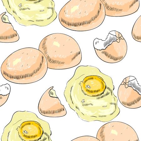 Vector chicken egg. Ilustrace