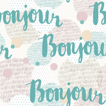 bonjour: Vector seamless pattern. Illustration