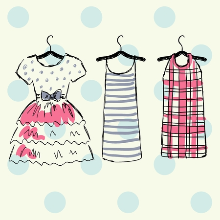 Vector beautiful clothes Illustration