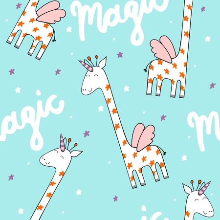 Magic cute giraffe