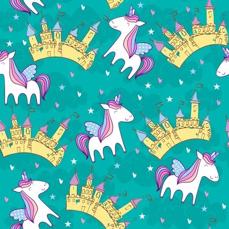 Magic cute unicorn
