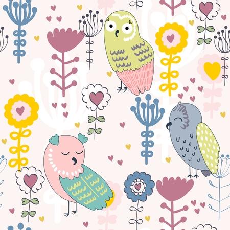 seamless pattern bird