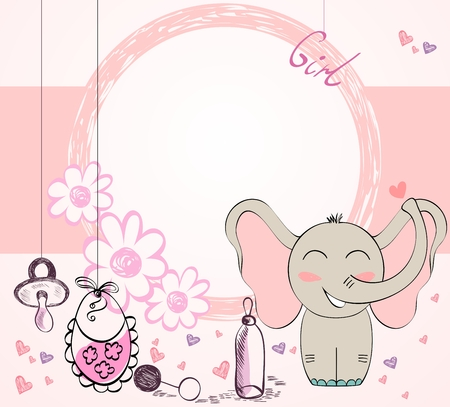 vector Baby Frame Ilustrace
