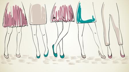 vector fashion womans. Illustration