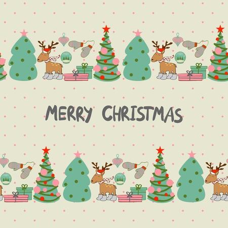 クリスマス カードのデザインです。