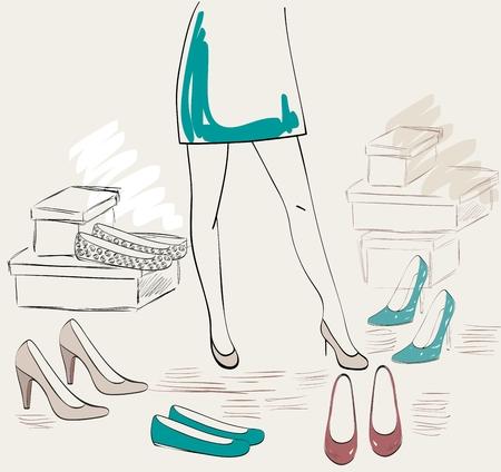 Shopping item illustration.