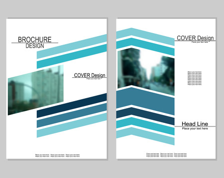 Brochure cover design on white background, vector illustration.