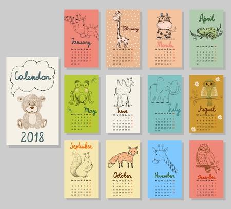 Cute Calendar 2018.