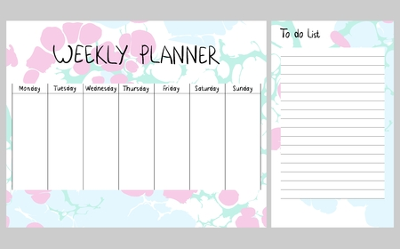Abstract weekly planner Stock Illustratie