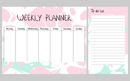 Abstract weekly planner Archivio Fotografico