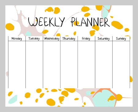 Abstract weekly planner 일러스트