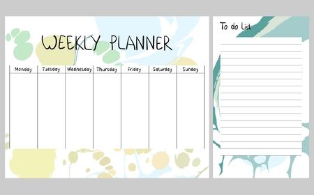 Abstracte weekplanner