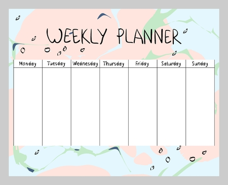 Abstract weekly planner Stok Fotoğraf