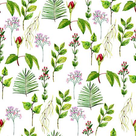 watercolor seamless pattern 写真素材