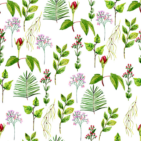 watercolor seamless pattern Stockfoto