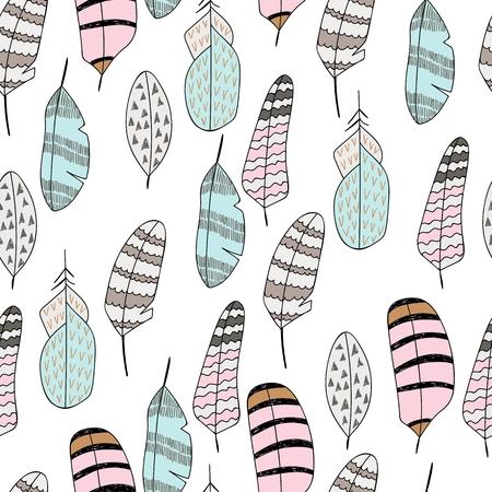 Vector seamless pattern illustration on white background. 向量圖像