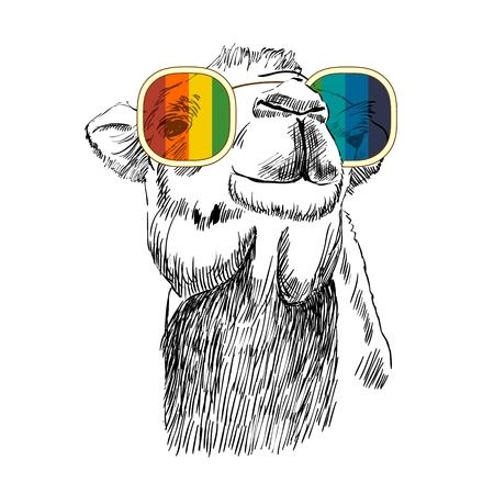 Vector retro camel