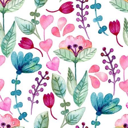 Seamless floral background. Stock fotó