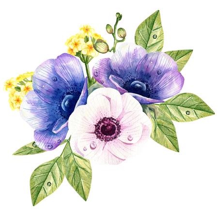 boeket van anemonen