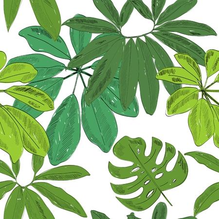 Tropical seamless pattern 向量圖像
