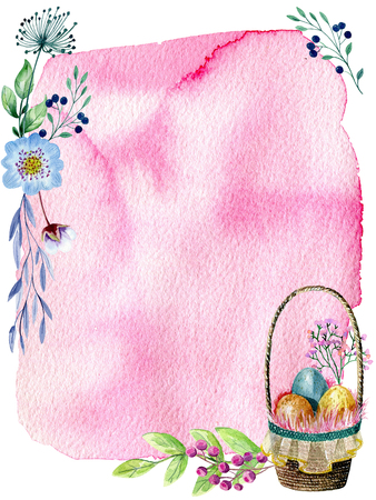 easter watercolor card.
