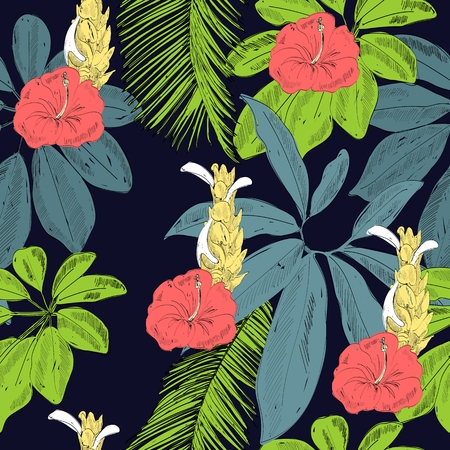 Tropical seamless pattern  イラスト・ベクター素材