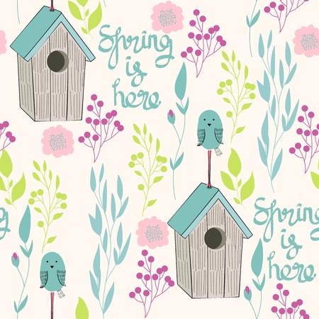 Seamless floral background. Illustration