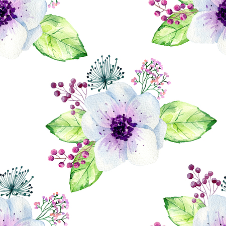 Seamless floral background. Stock Photo