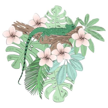 Tropische vectorillustratie