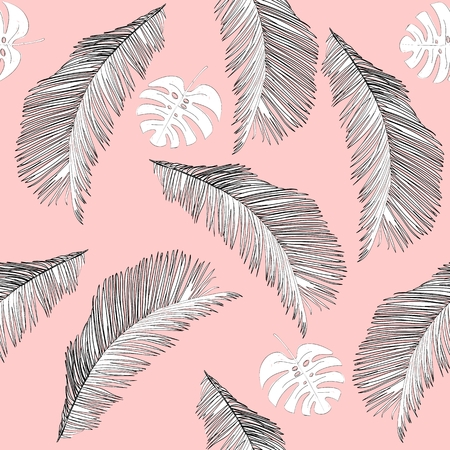 Tropical seamless pattern 矢量图像