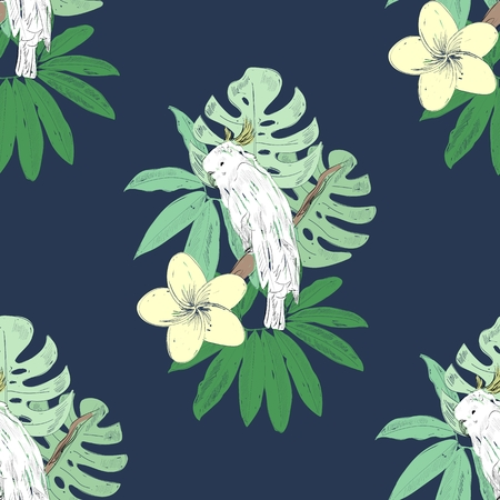 Tropical seamless pattern vector illustration