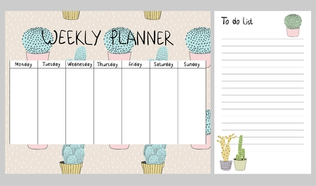 Weekly planner vector icon.