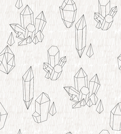 Hand drawn crystals