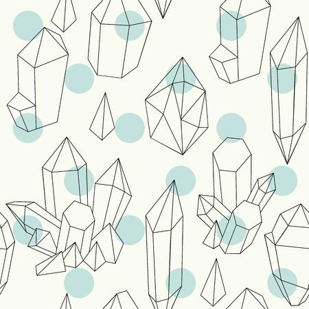 Hand getrokken kristallen Vector Illustratie