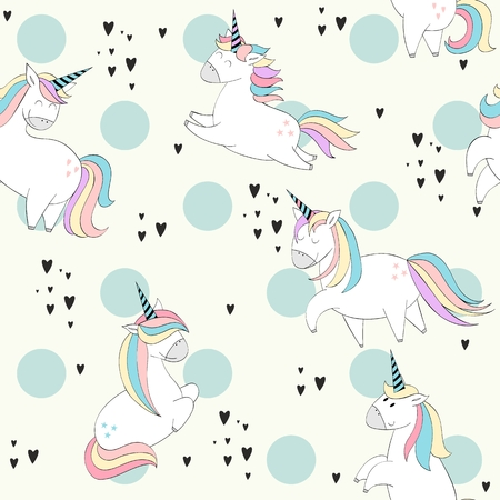 Magic cute unicorns