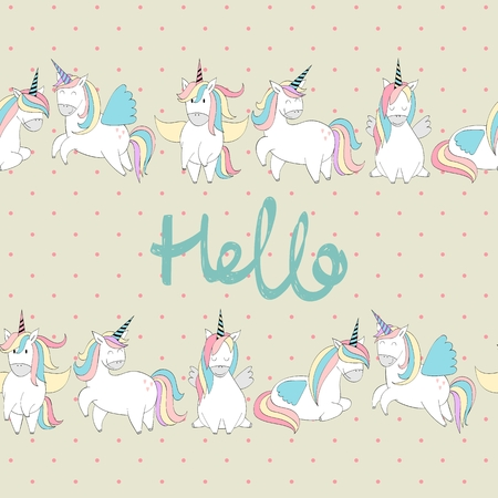 Magic cute unicorns
