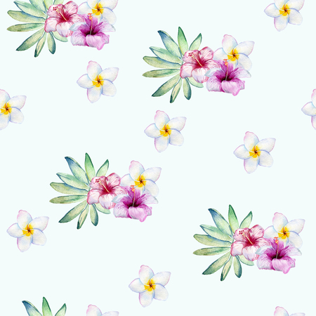 Tropical seamless pattern Stock Photo